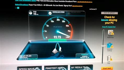 speed test speedtest net speed test bigpond ultimate cable 100mbps