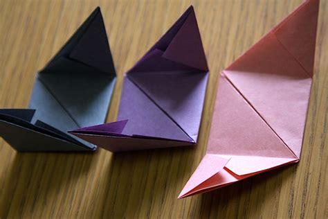 paper triangles origami origami cube tutorial origami