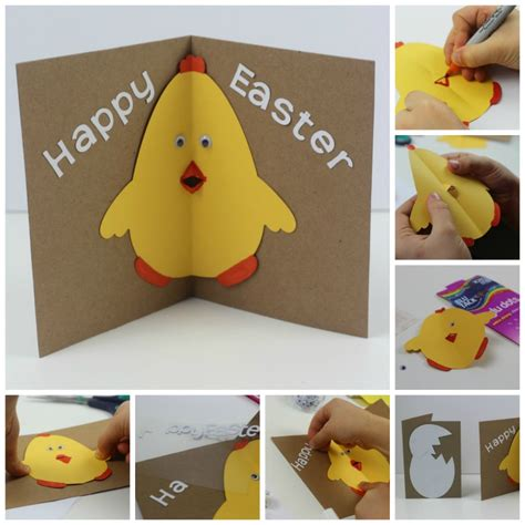 how to make a pop out card easter card with pop out beak in the madhouse