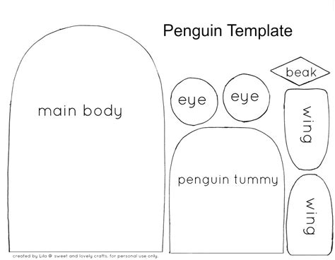 crafts templates sweet and lovely crafts penguin craft