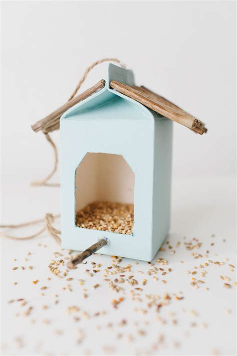 milk crafts for milk bird feeder crafts