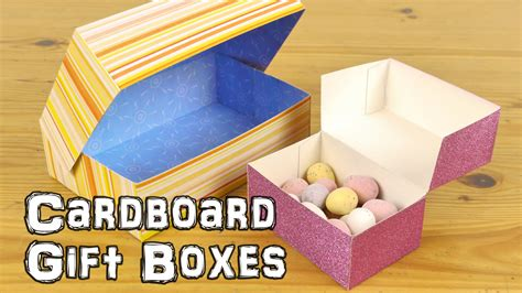 how to make boxes out of card diy cardboard gift boxes