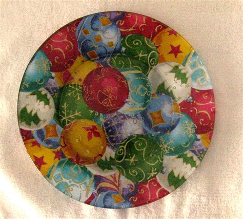 decoupage plates with fabric decorative decoupage fabric backed plate by