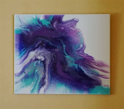 pouring acrylic paint on canvas resin and acrylic pour painting on canvas mixed media modern