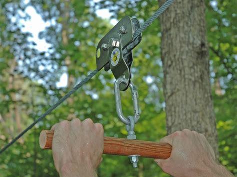 zipline for backyard build a zip line for your backyard make