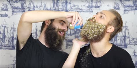 how to put in your beard glitter beards is now a trend