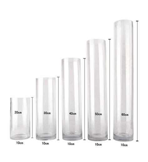 12 inch cylinder vases bulk bulk lot 12 x clear glass vases cylinder 60cm x 10cm