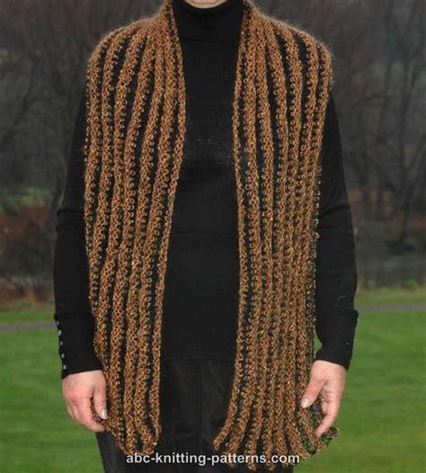 striped scarf pattern knitting abc knitting patterns striped scarf