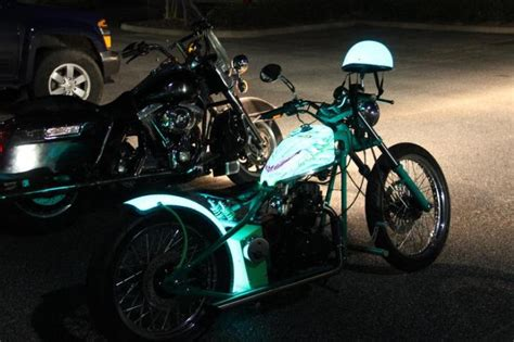glow in the paint motorcycle lumilor by td customselectroluminescent paint