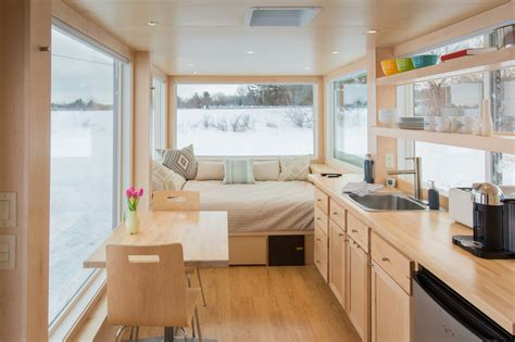 trailer home interior design this tiny home on wheels lets you change your vista on a