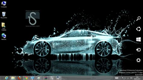 Sport Car Wallpaper For Desktop 3d Themes by Car Water Effect Theme For Windows 7 And 8 Season 2 Ouo