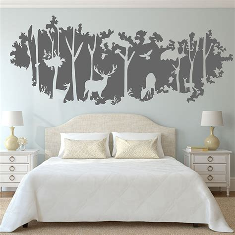 wall stickers for rooms forest wall sticker animal deer birds jungle mural