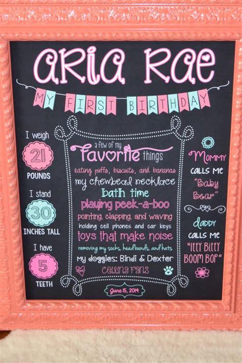 diy chalkboard birthday sign s 1st birthday project nursery