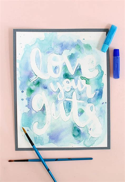 painting craft for easy watercolor rubber cement resist lou