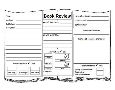 book pdf free sle book review template 10 free documents in pdf word