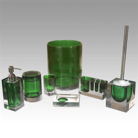 green bathroom accessories green bathroom