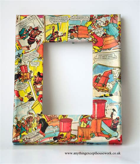 decoupage frame decoupage picture frames using comics