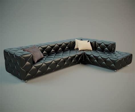 stylish leather sofa stylish leather sofa 3d model free high poly