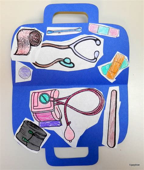 community helpers crafts for tippytoe crafts doctor s kit