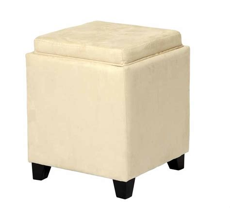 storage ottoman with serving tray microfiber square storage ottoman with serving tray