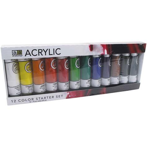 acrylic paint advantage 3 4 oz 22 ml acrylic paint 12 color set