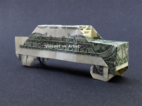 origami money car money origami car dollar bill made with real 1