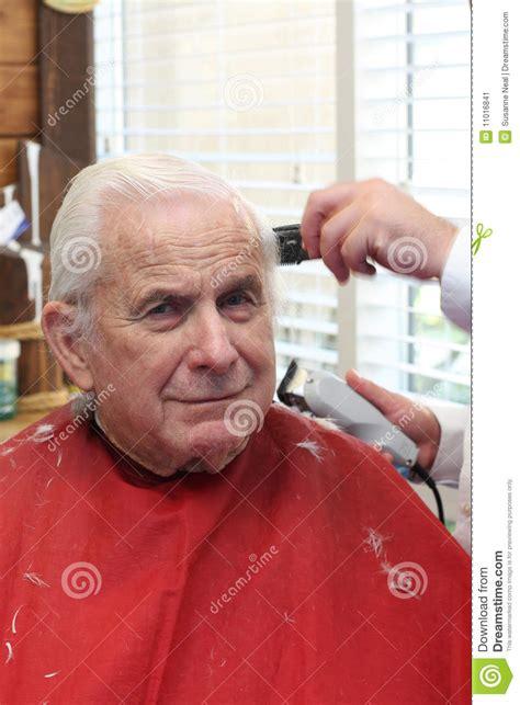 hair cut for senior citizens grandpa gets a haircut stock image image 11016841