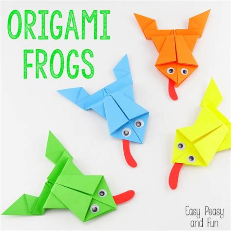 origami how to make origami frogs tutorial origami for easy peasy and