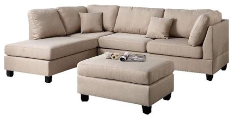 sectional sofa and ottoman set fabric reversible 3 sectional chaise sofa set