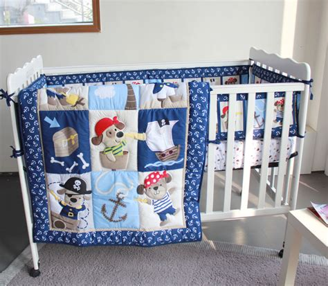 baby boy crib sets bedding cool dogs caribbean pirate 4pc baby boy crib bedding set