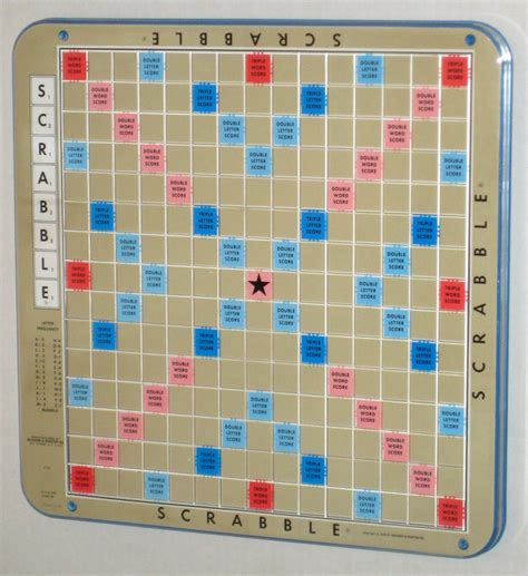 spinning scrabble board sold scrabble deluxe blue turntable rotating board