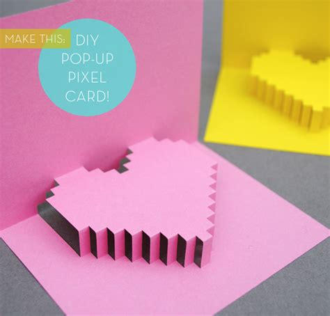 how to make a pixel pop up card how to make pop up handmade cards