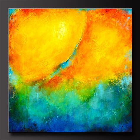 acrylic paint abstract color splash 30 x 30 abstract acrylic painting