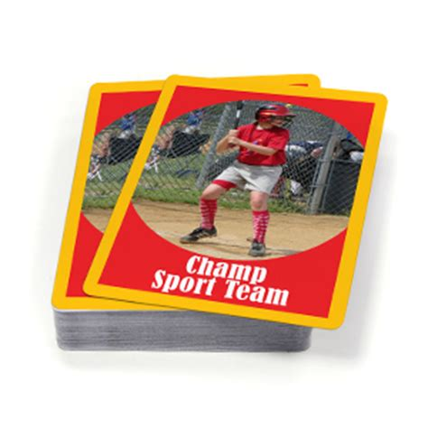 make your own sports card custom sports cards for your team