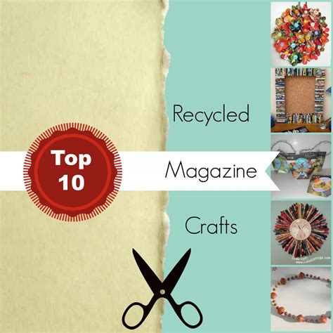 recycled magazine crafts for recycle by upcycling