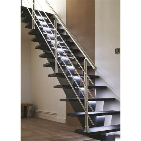 escalier droit gomera structure m 233 dium mdf marche m 233 dium mdf leroy merlin