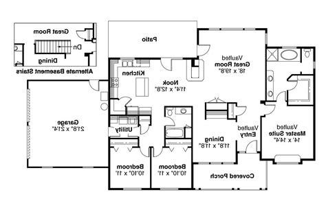 ranch floor plans ranch house plans alpine 30 043 associated designs