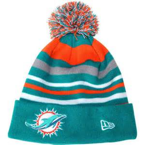 miami dolphins knit hat new era miami dolphins new logo stripe out knit hat
