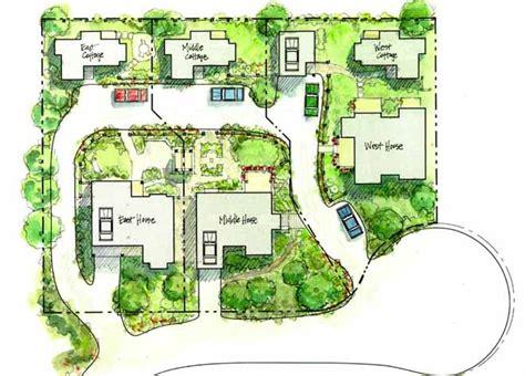 neighborhood plans the cottage company backyard neighborhood site plan