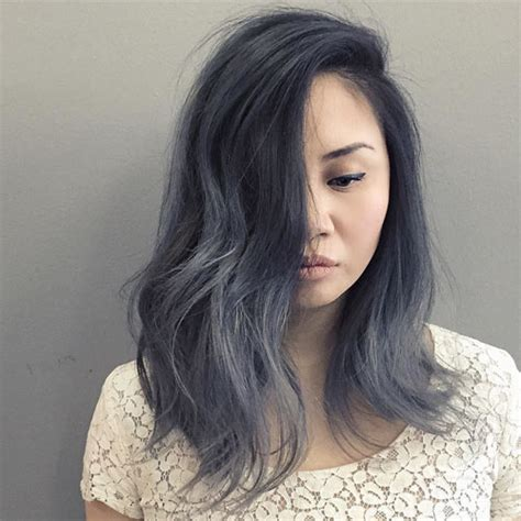 popular trending gray hair colors hair color trend for women silver and gray