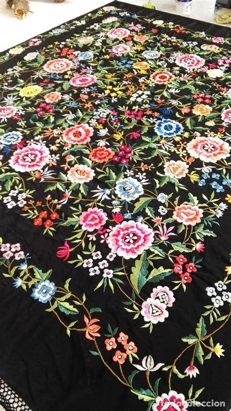 enrejado manton manton de manila espectacular color bordados comprar