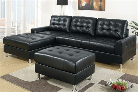 black leather sectional sofa with chaise chaise sectional sofas type and finishing homesfeed