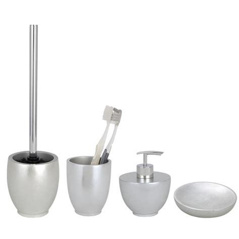 wenko silver bathroom accessories set at plumbing uk