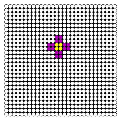 easy bead patterns simple flower perler bead pattern bead sprites simple