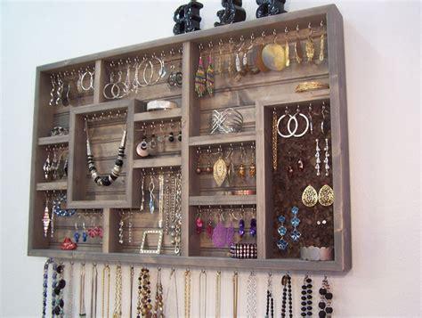 how to make jewelry holder wall mounted organizer shelf home design ideas