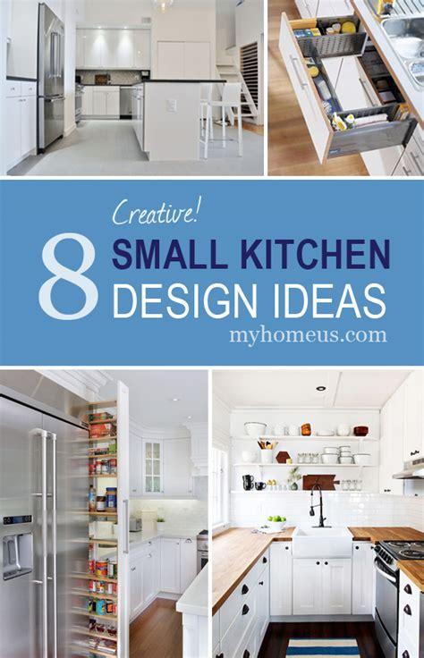 creative small kitchen ideas 8 creative small kitchen design ideas myhome design