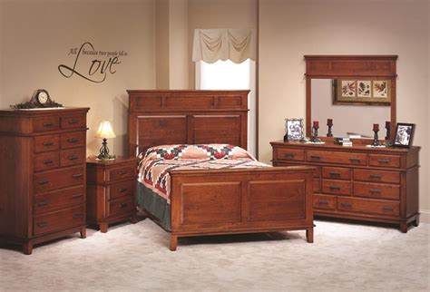 Shaker Bedroom Furniture Shaker Style Cherry Wood Bedroom Set Amish Made Bedroom Set