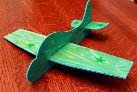 airplane craft projects craft an airplane from green kid crafts on as we