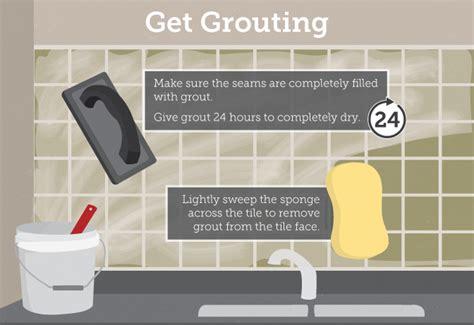 grouting kitchen backsplash how to tile your kitchen backsplash in one day fix