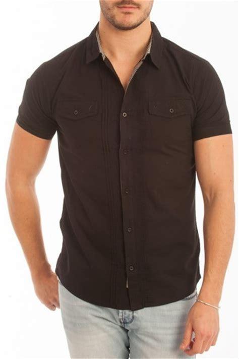 camisa negra manga corta camisa negra hombre camisa lois manga corta